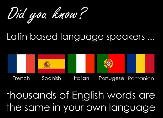Around 800,000 million people worldwide speak Latin based languages.