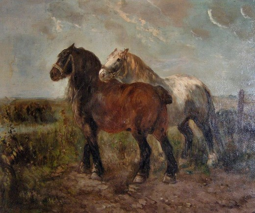 Brabast horses, painting by Henry Schouten By Georges Jansoone Public Domain