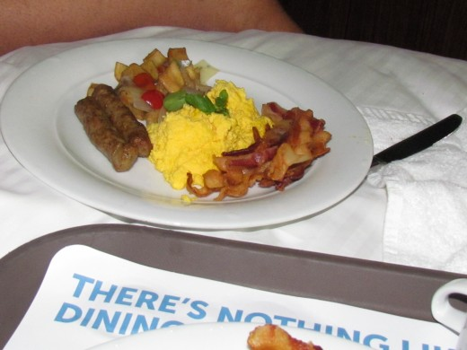 We ordered room service for breakfast one morning which is also part of the specialty dining package.