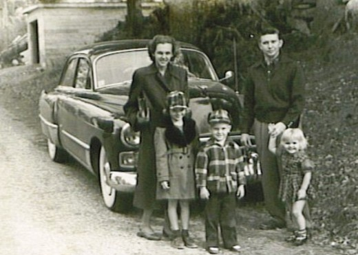 Listening to the radio was the main choice for this family of five traveling through Vermont.