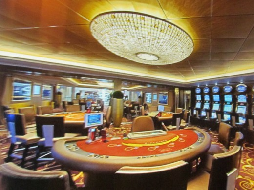 A photo of the casino on the Epic.