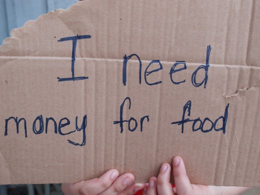 Image result for sign help need money for food