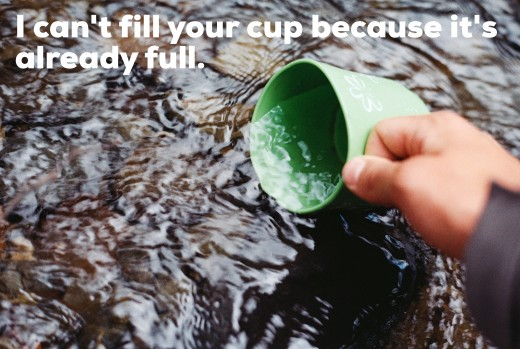 It is not until you empty some of you cup that I can fill it with new knowledge.