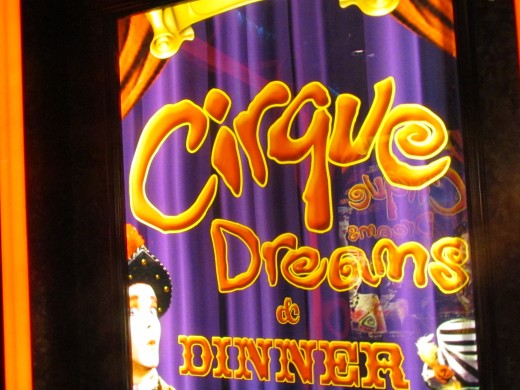 Cirque Dreams, was another major performance that we enjoyed. Dinner was also served with this performance.
