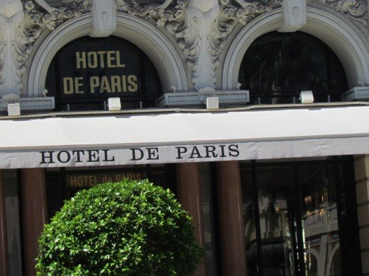 A front shot of Hotel De Paris.