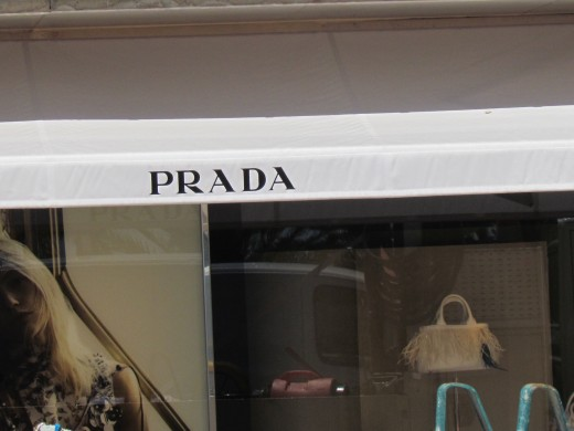 The front of the Prada store downtown Monte Carlo.