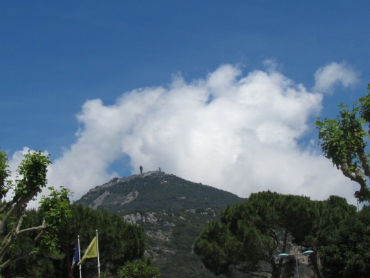 Another shot of this beautiful white cloud hovering over mountain in Nice, France.