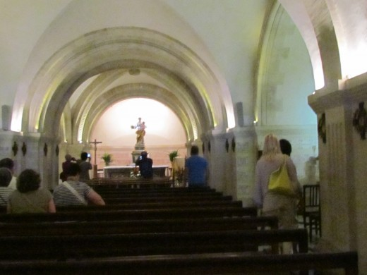 Inside of Notre Dame De La Garde, that was located on a mountain top overlooking the city.