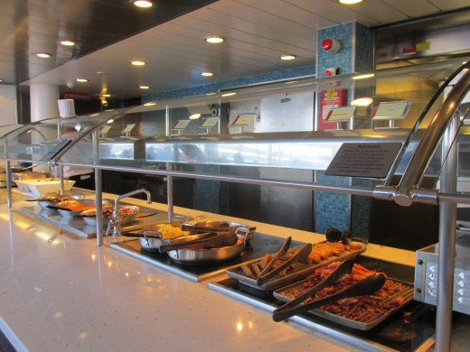 One of the buffets that was displayed for lunch on Deck 15 at Great Outdoor Buffet. They serve breakfast from 5:30-9:30 am. Then they prepare for lunch from 11:30 am - 3:00 pm.