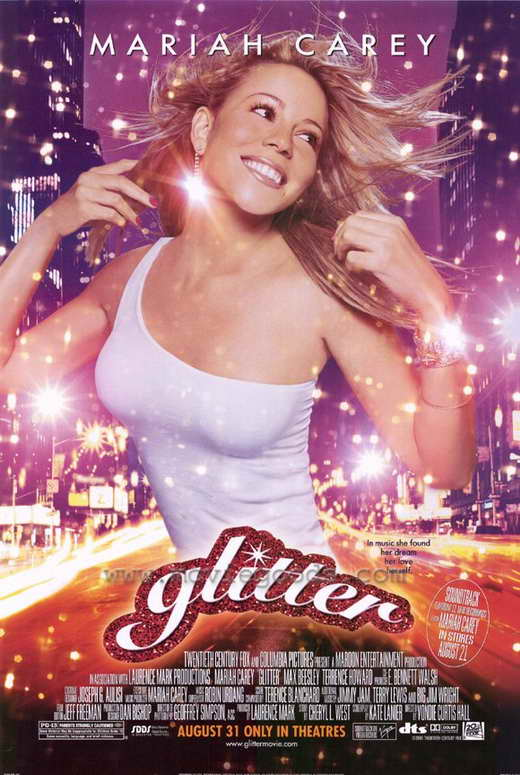 Film poster for Glitter. Property of 20th Century-Fox and Columbia Pictures.