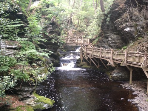 Bushkill Falls, picture is taken from the bottom