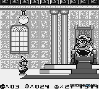 Wario's first appearance: the final boss of Super Mario Land 2