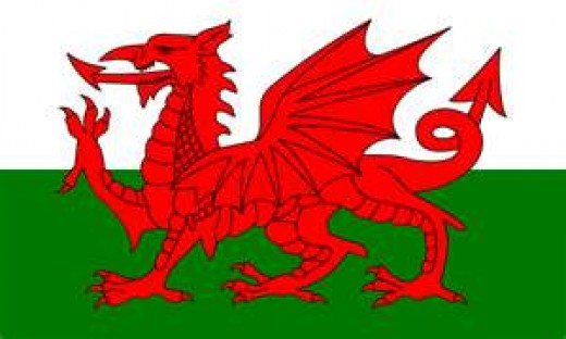 Welsh flag.