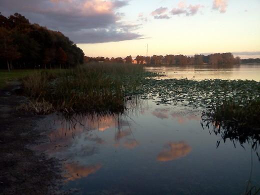 Sunset Lake Orlando 2011