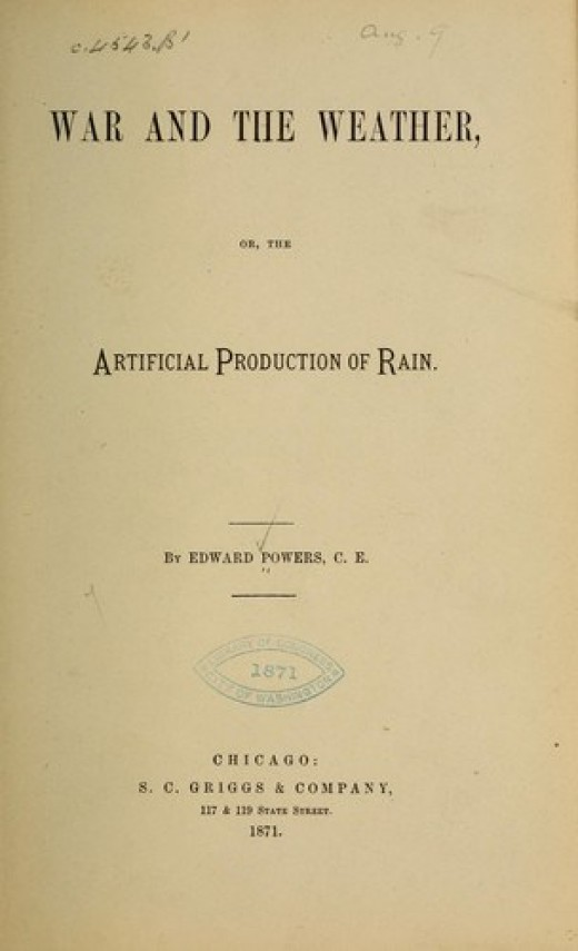 Artificial Production of Rain was a concept even in this 1871 book.