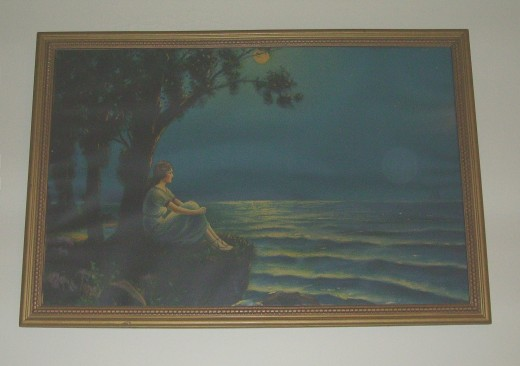 THIS IS OUR FAVORITE PAINTING-IN THE STYLE OF MAXFIELD PARRISH...