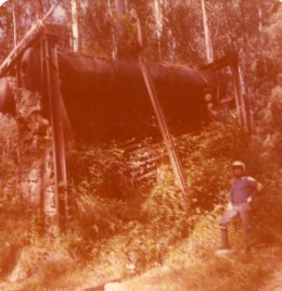 Mining equipment near Red Jacket