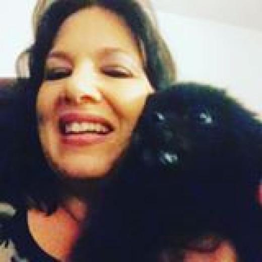 Andrea with her beloved Pom Oliver