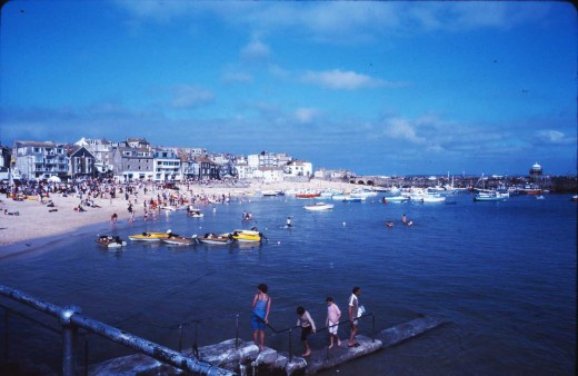 St. Ives on a calm day years ago. What will the waters be like in a few years from now?