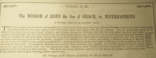 Son of Sirach was another man named Jesus