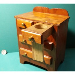 Hand Made Wooden Dresser With Trick Drawer Slot