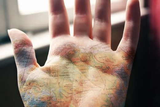 Map on the palm