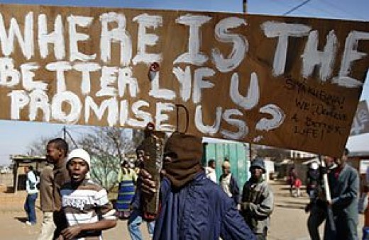 Protests From Poor In The Grassroots In South Africa