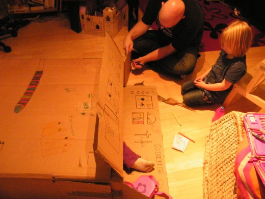 Work together with your children to create a fabulous building.