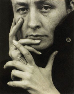 Georgia O'Keefe photographed as a young woman by Alfred Stieglitz