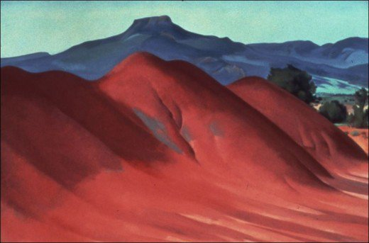 Eventually Georgia settled into the Ghost Ranch, where she created stunning landscapes from practically out her backdoor