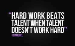 Talent vs Hard work. The gifted vs the striving.