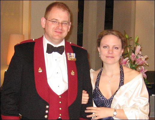 Craig and Georgina at a military ball