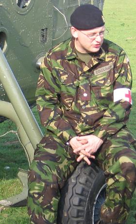 Craig in his combat gear
