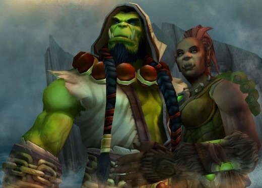 Thrall and his life mate Aggra