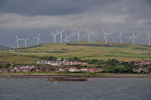 The Ardrossan Wind Farm in Scotland.