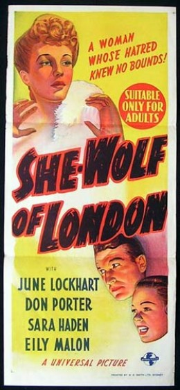 Theatrical Poster for She-Wolf of London