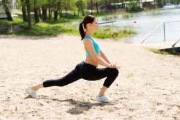 1. Walking Lunges.