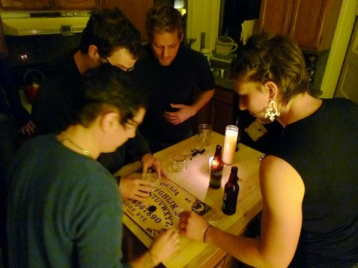 Use a white candle and smudge the room before and after using a ouija board.