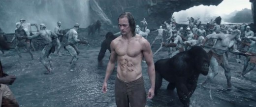 Tarzan('s abs) with gorillas and a native tribe