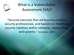 INFORMATION TECHNOLOGY (IT) SECURITY AND VULNERABILITIES