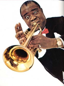 Louis Armstrong & Fats Domino Two Great New Orleans Musicians