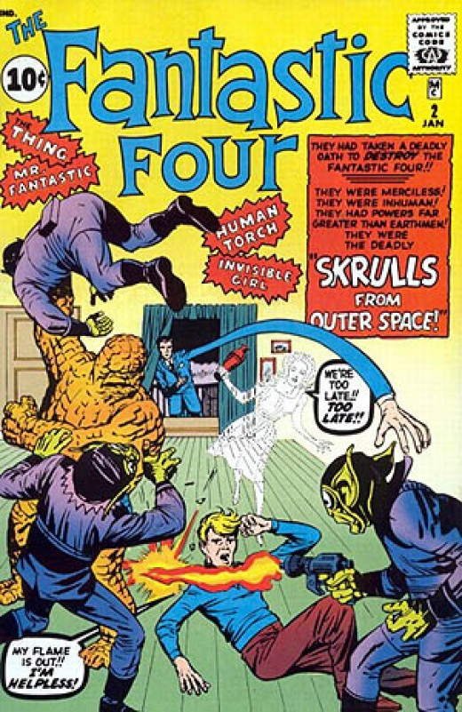 The FF's first encounter with the Skrulls
