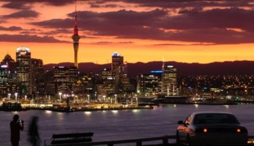 View of Auckland City from Mount Victoria