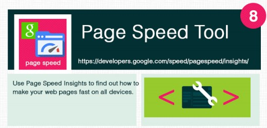 Useful to check page speed performance.