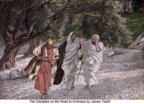 The Pilgrims of Emmaus on the Road, James Tissot (1836-1902)