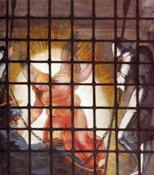 The gate holding Apostle Peter in prison.