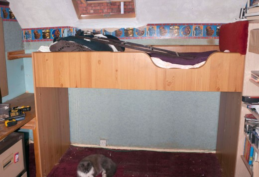 The bunk bed itself was fine; it's only the storage area underneath the bed that needed a radical overhaul.
