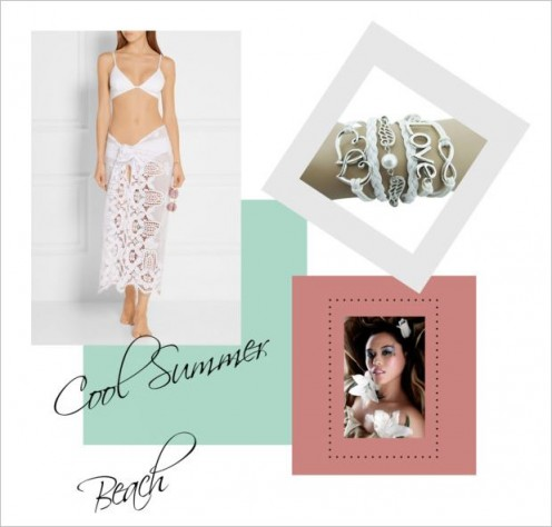 White is always a cool colour for a sizzling day at the beach or pool!