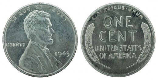 Steel wheat back cent from 1943