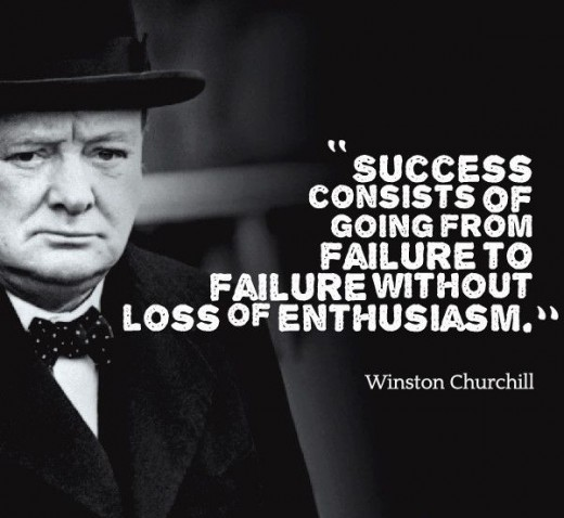 William Churchill's perception of failure